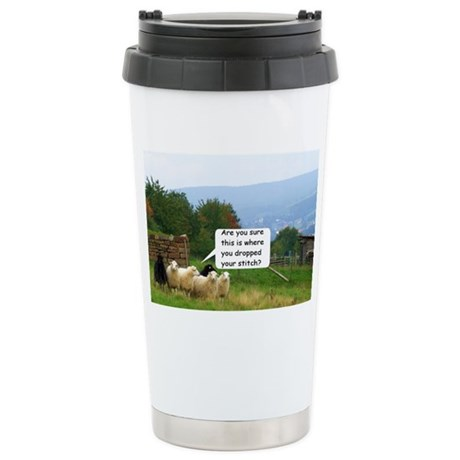 Drop Stitch Sheep Travel Mug