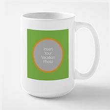 Green Orange Photo Border Mugs