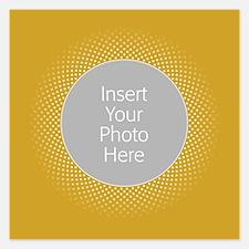 Custom Polka Dots Gold Invitations