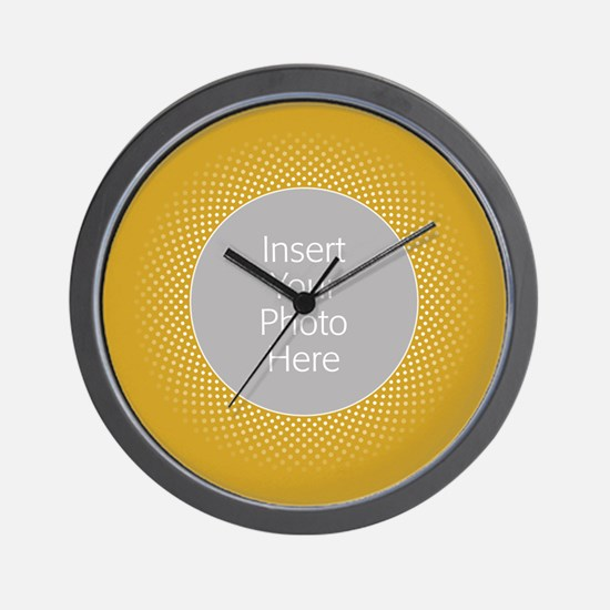 Custom Polka Dots Gold Wall Clock