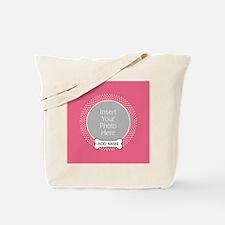 Dog Bone Pet Photo Pink Tote Bag