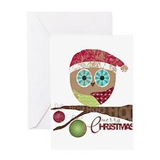Hoo, Hoo, Hoo, Merry Christmas Greeting Cards
