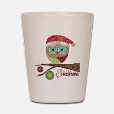 Hoo, Hoo, Hoo, Merry Christmas Shot Glass