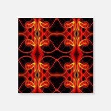 """celtic knot black red flame Square Sticker 3"""" x 3"""""""