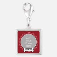 Dog Bone Pet Photo Red Charms