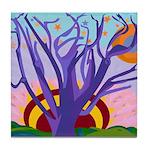 Purple Tree Of Life Tile Coaster