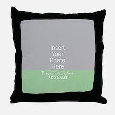 1st Christmas Mint Throw Pillow