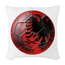 Albanian Football Woven Throw Pillow