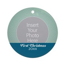 First Christmas Mint Blue Ornament (Round)