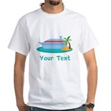 Cruise ship Mens White T-shirts