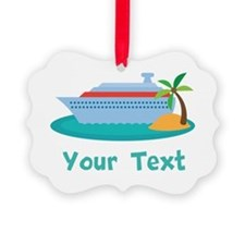 Personalized Cruise Ship Ornament