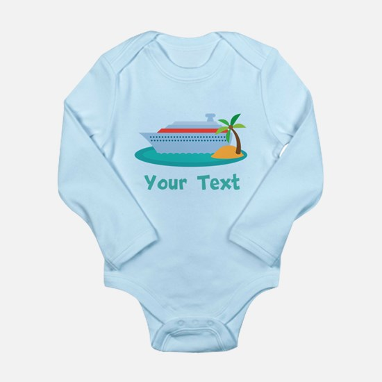 Personalized Cruise Ship Long Sleeve Infant Bodysu