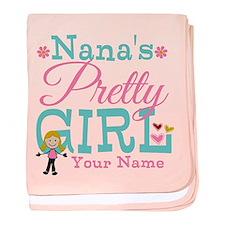 Personalized Nana's Pretty Girl baby blanket