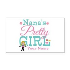 Personalized Nana's Pretty Girl Rectangle Car Magn