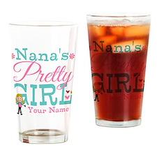 Personalized Nana's Pretty Girl Drinking Glass