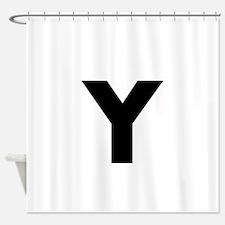 Modern Monogram Shower Curtain