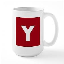 Modern Monogram Red Mugs