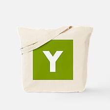 Modern Monogram Lime Green Tote Bag