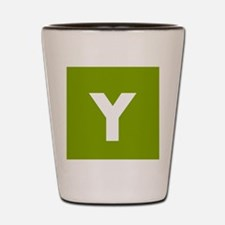 Modern Monogram Lime Green Shot Glass