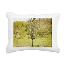 Disc Golf Basket 7 Rectangular Canvas Pillow