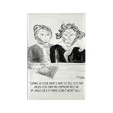 Beethoven's Jingle Rectangle Magnet