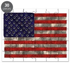 Metal American Flag Puzzle