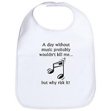 A Day Without Music Bib