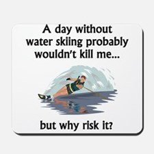 A Day Without Water Skiing Mousepad