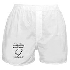 A Day Without Reading Boxer Shorts