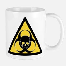 Biohazard symbol and skull Mugs