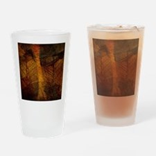 brown leaf print Drinking Glass