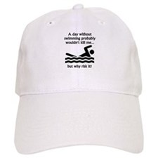 A Day Without Swimming Baseball Baseball Cap