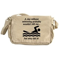 A Day Without Swimming Messenger Bag
