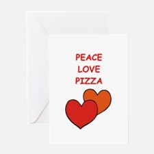 pizza Greeting Cards