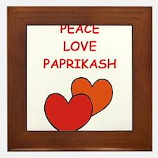 paprikash Framed Tile