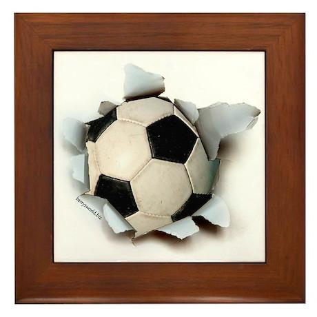 Soccer Burster Framed Tile
