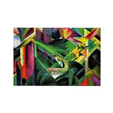 Franz Marc: Deer in a Monastery G Rectangle Magnet