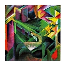 Franz Marc: Deer in a Monastery Garde Tile Coaster
