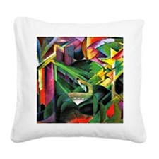 Franz Marc: Deer in a Monaste Square Canvas Pillow