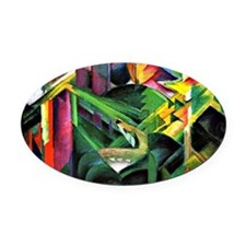 Franz Marc: Deer in a Monastery Ga Oval Car Magnet