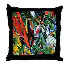 Franz Marc art: In the Rain Throw Pillow
