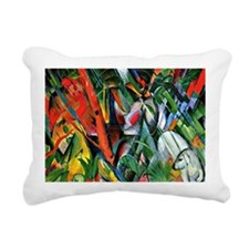 Franz Marc art: In the R Rectangular Canvas Pillow