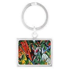 Franz Marc art: In the Rain Landscape Keychain