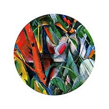 "Franz Marc art: In the Rain 3.5"" Button"