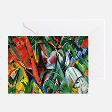 Franz Marc art: In the Rain Greeting Card