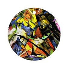 Franz Marc painting: Tyrol Round Ornament
