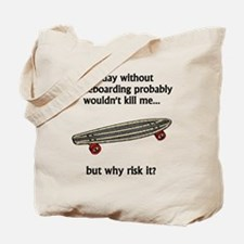A Day Without Skateboarding Tote Bag