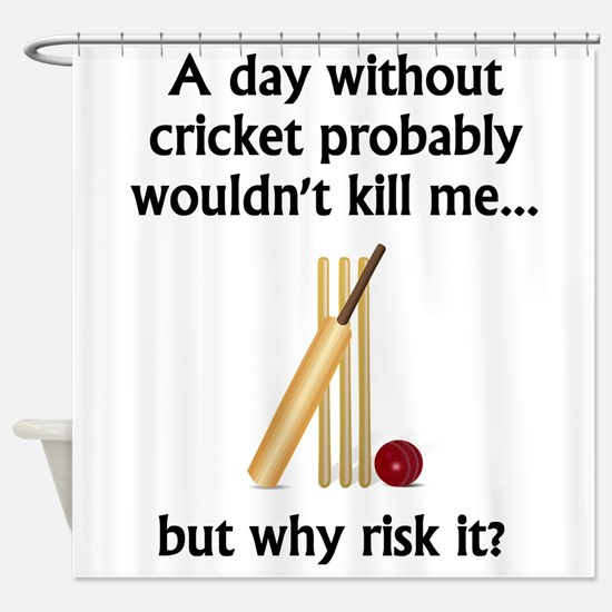 A Day Without Cricket Shower Curtain