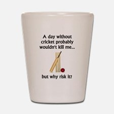 A Day Without Cricket Shot Glass