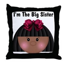 African American Big Sister Throw Pillow